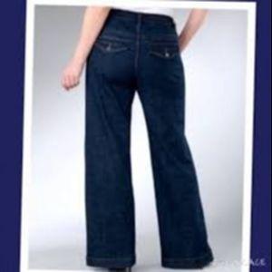 Lane Bryant Wide leg Jeans Dark Wash